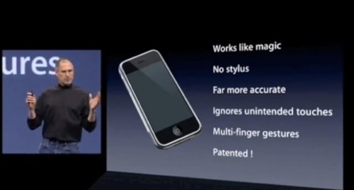 patented technology. Nothing like iPhone before iPhone